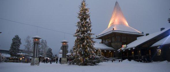 Santa's house and Arctic circle