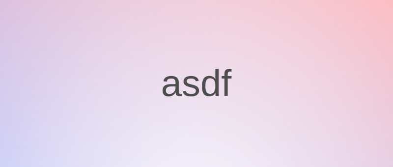 asdf - Rozšiřitelný správce multi-verzí runtime