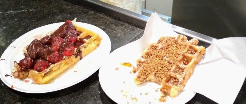 Pravé belgické vafle - ano začal jsem jíst dříve, než jsem udělal fotku