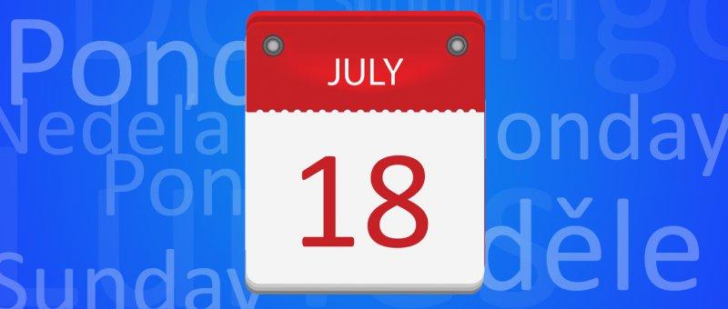 Pozor na kalendáře v angličtině