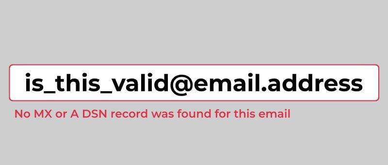 Pokročilá validace emailové adresy