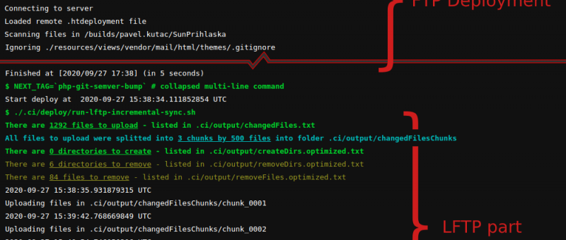 Log z Gitlab CI pipeline