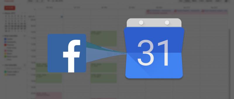 Události i narozeniny z Facebooku do Google Kalendáře