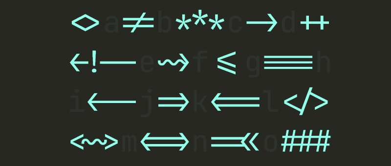 Font pro vývojáře a ligatury