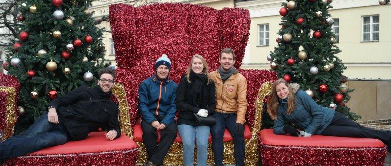 Christmas corner in Warsaw