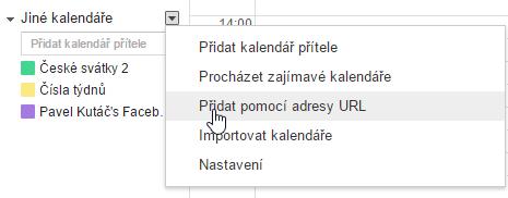 Import URL adresy