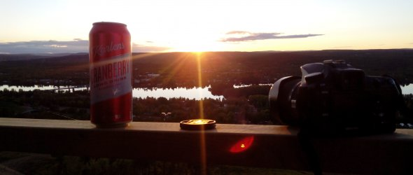 Taking pictures of midnight sun
