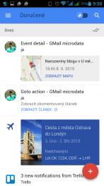 Zobrazení v Inboxu na Androidu