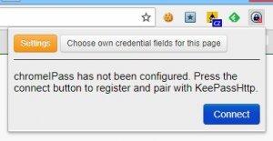 Spojení KeePass a KeePassHTTP