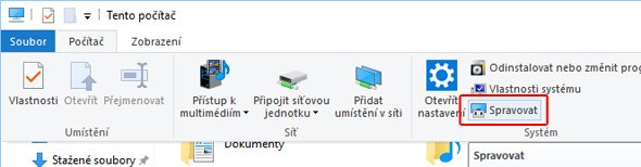 Windows - Spravovat